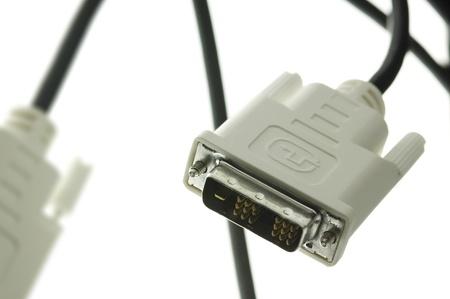 dvi: Closeup of DVI cable