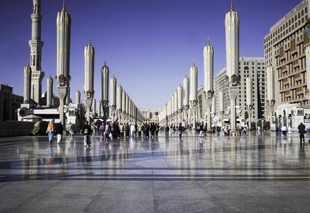 Medina, Saudi Arabia - December 15, 2016 ; The enviroment of Mosque of Prophet and surrounding.