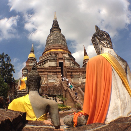Wat yai chai mongkol ayutthaya  thailand