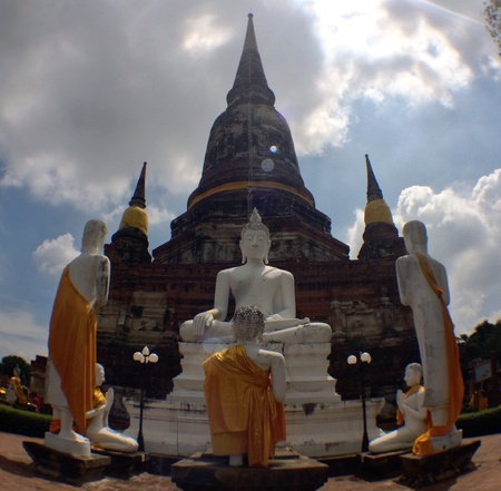 Wat yai chai mongkon temple Stock Photo