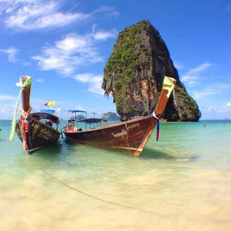Railay beach  krabi Stock Photo
