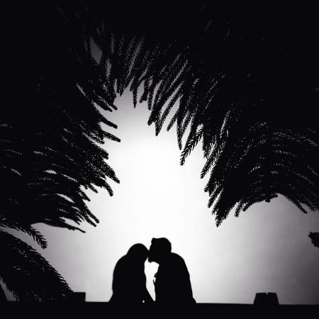 Romantic in silhouette