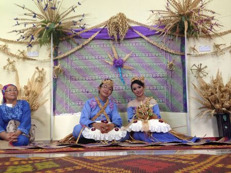 aboriginal woman: Aboriginal Wedding Couple at Pahang Malaysia