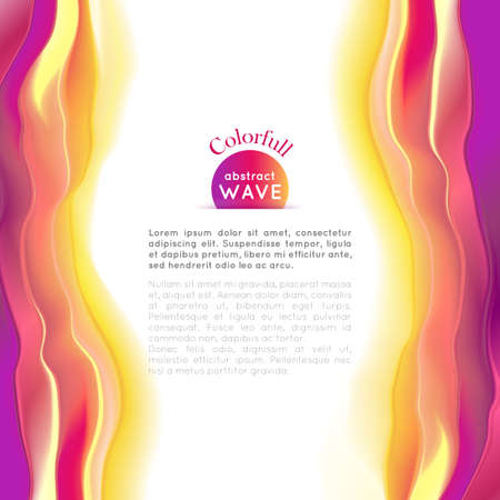 smoothness: wave illustration. Smooth play of color. Abstract background.