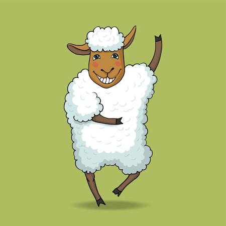 joyful dancing sheep