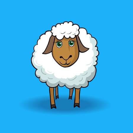joyfull: Joyfull sheep Illustration