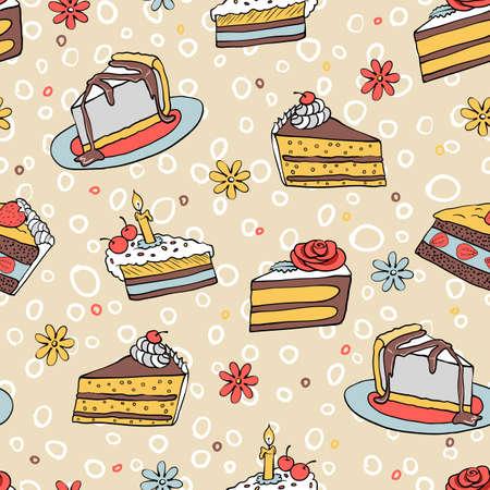 trozo de pastel: pieza de color de patrón transparente torta había tirado