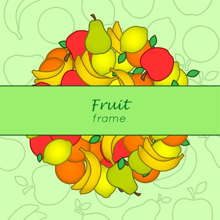 Fruit frame. Vectoe frame Illustration