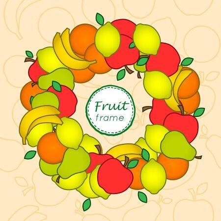 vectoe: Fruit frame. Vectoe frame Illustration