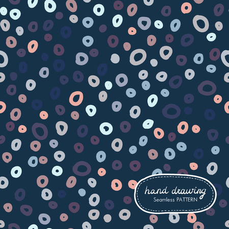 ringlet: Hand Drawing Seamless Pattern with ringletVector illustration