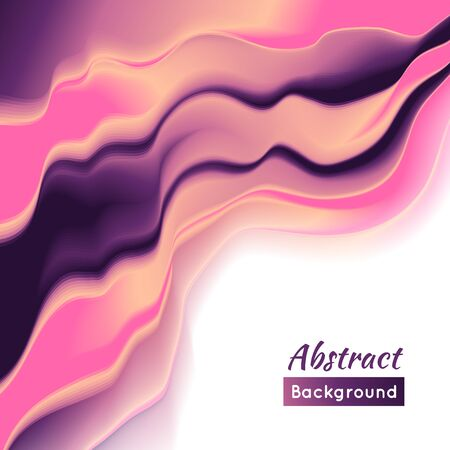 smoothness: Vector wave illustration. Background illustration. Smooth play of color.