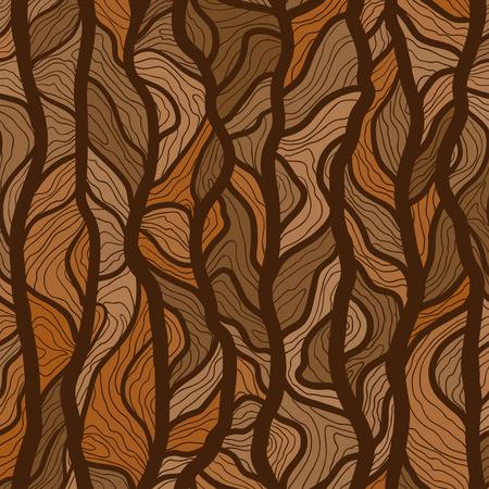 벡터 손으로 그려진 된 트리 트렁크 질감 배경. 원활한 벡터 패턴 인쇄, 섬유 디자인, 패브릭, 홈 장식, 웹 사이트, 벽지 일러스트