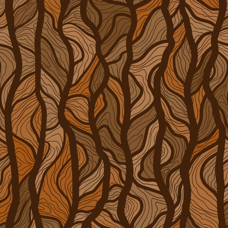 Vector hand drawn tree trunk texture background. Seamless vector pattern for print, textile design, fabric, home decor, website, wallpaper