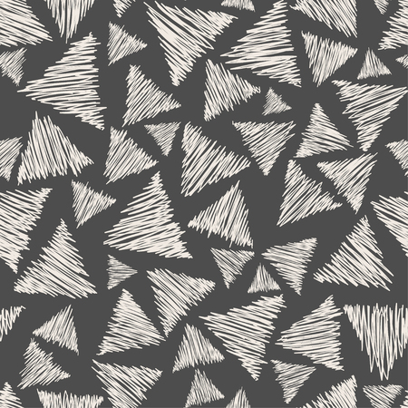 pensil: Hand drawn seamless pattern witn pensil triangle Illustration