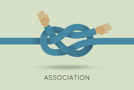 logo handshake: Partnership concept vector illustration in flat style. Vector illustration of intertwined hands. Business template. Press illustration
