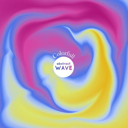Vector wave illustration. Background illustration. Smooth play of color. Vector Illustration