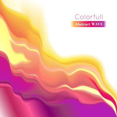 smoothness: Vector wave illustration. Smooth play of color. Abstract background.