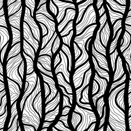 vector dibujado a mano de fondo de árboles textura del tronco. Modelo inconsútil del vector para la impresión, el diseño textil, tela, decoración del hogar, sitio web, papel tapiz
