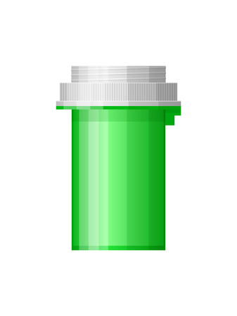 pharmaceutic: Isolated medicine bottle on white background. Empty medicine bottle for drugs, tablets, capsules. Pharmaceutic container. Vector medicine bottle Illustration