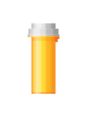 mixtures: Isolated medicine bottle on white background. Empty medicine bottle for drugs, tablets, capsules. Pharmaceutic container. Vector medicine bottle Illustration