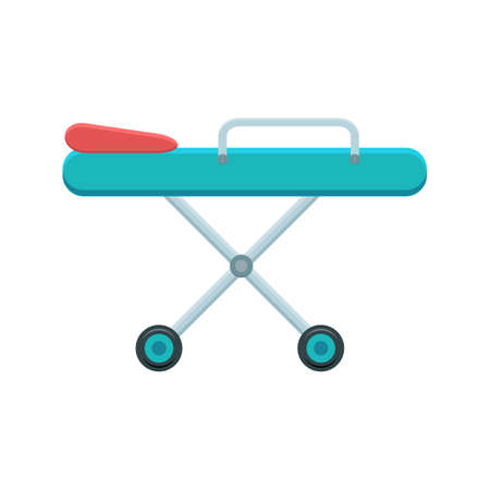 stretcher: Stretcher vector illustration. Medical and hospital icon. Color icon on white background.