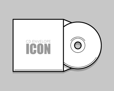 White Cover For Compact Disc Mock Up Template White Envelope