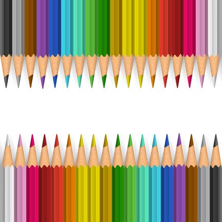color pencils: Background with color pencils. Vector color illustration
