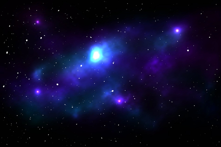 gaseous: Night sky with stars and nebula. Space vector illustration Illustration