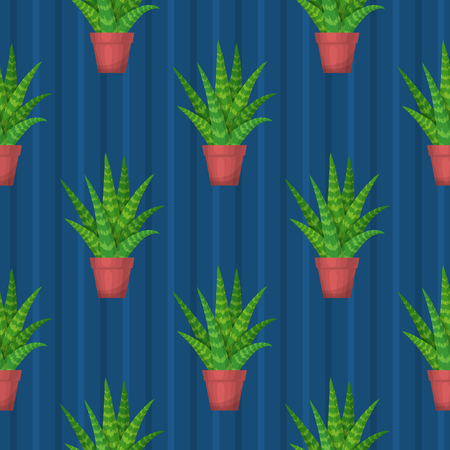 succulent: Seamless pattern with succulent. Wallpaper vector illustration.