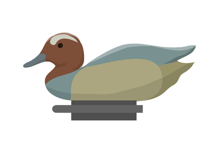 decoy: Duck decoy for duck hunting. Vector illustration Illustration