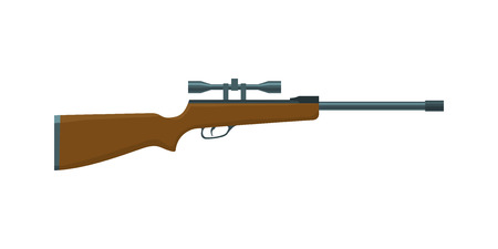 Hunting Rifle. Shooting sport vector illustration. Rifle with a sight