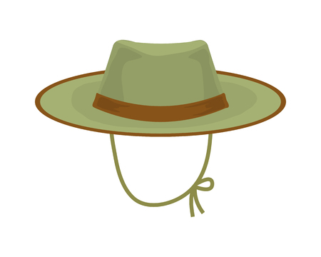 Hunter hat. Hunting equipment vector illustration. hat icon Illustration