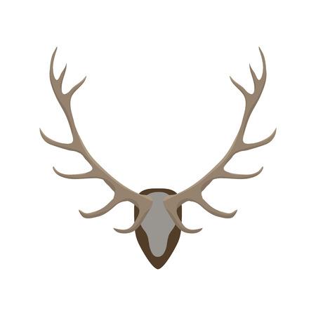 Antlers illustration vectorielle. Cerf cornes couleur icône