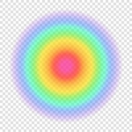 Círculo de cores gradiente do arco-íris. Forma borrada transparente em fundo transparente. Ilustração do vetor Foto de archivo - 61901523