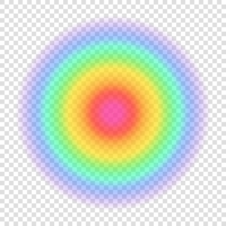 Gradient rainbow color circle. Transparent blurred form on transparent background. Vector illustration