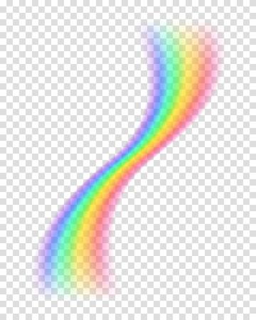 raibow: Transparent rainbow. Vector illustration. Realistic raibow on transparent background.