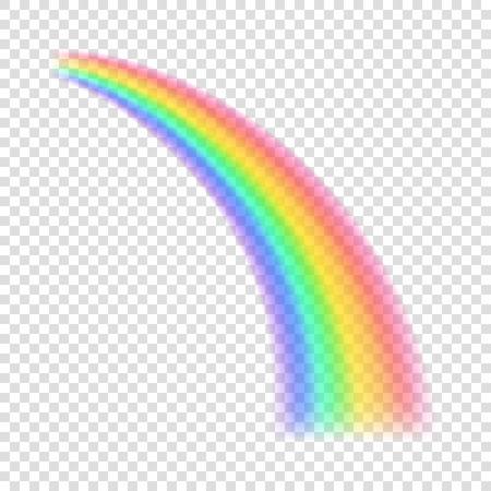 Transparent rainbow. Vector illustration. Realistic raibow on transparent background. 免版税图像 - 63023012