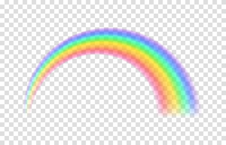 透明な虹。ベクトルの図。透明な背景に現実的なノースレインボーエクス。