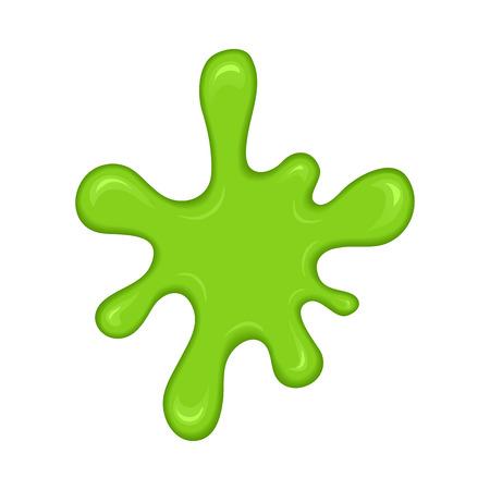 Verde blot chapoteo limo. Limo borra aisladas sobre fondo blanco. Vector de forma abstracta verde Ilustración de vector