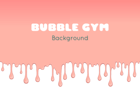 bubble gum: Vector background with pink bubble gum or melting ice cream. Flow of sweet sticky liquid. Abstract illustration of splash. Burst off bubblegum. Cartoon design