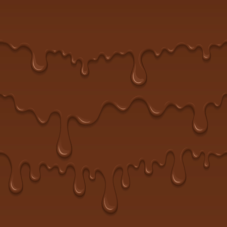 melt: Background of flowing dark chocolate. Splash of melt brown sweet liquid. Melted chocolate drips and flowing. Abstract vector illustration