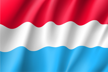 national identity: Waving flag of luxembourg Illustration
