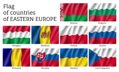 Vector flags of Eastern Europe countries.