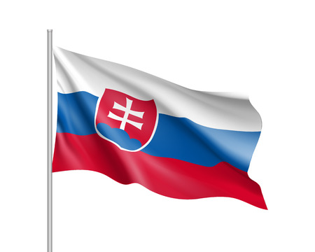 Waving flag of Slovakia state