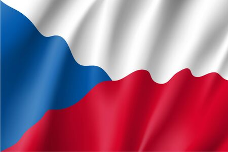 Waving flag of Czech Republic Illustration