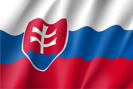 slovakia: Waving flag of Slovakia Illustration