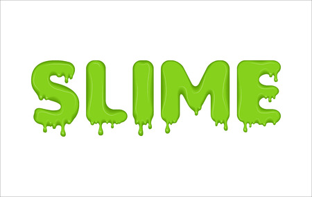 Word made of green slime.