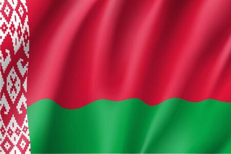 belarus: Waving flag of Belarus