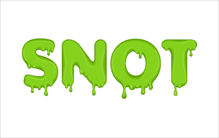 Vector word made of snot. Stock Photo