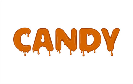 Vector word made of candy. Illustration